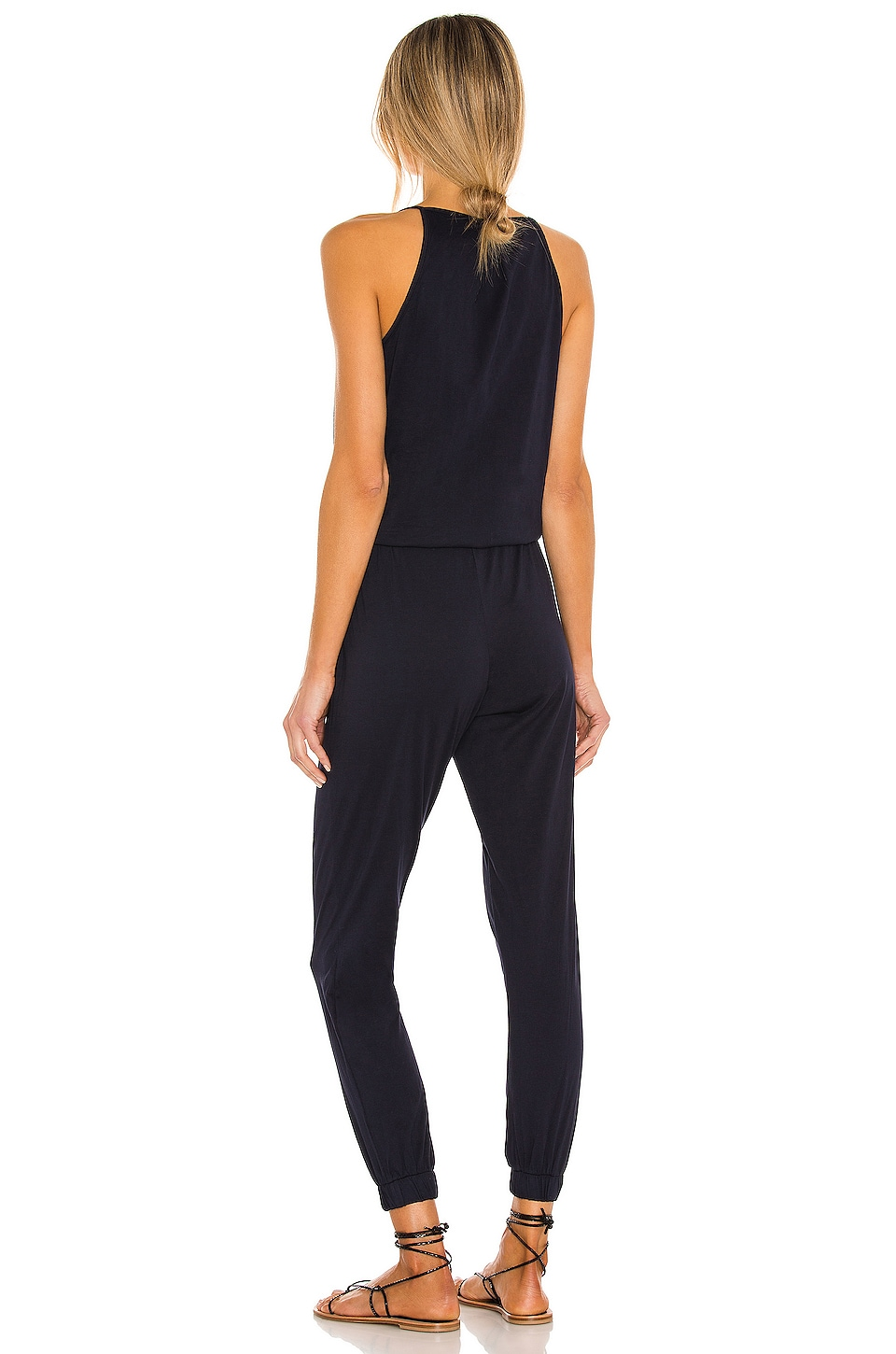 Supreme Jersey Tied Waist V Neck Jumpsuit, view 3, click to view large image.