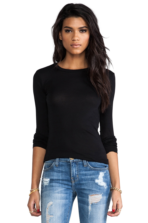 Bobi Light Weight Jersey Long Sleeve in Black