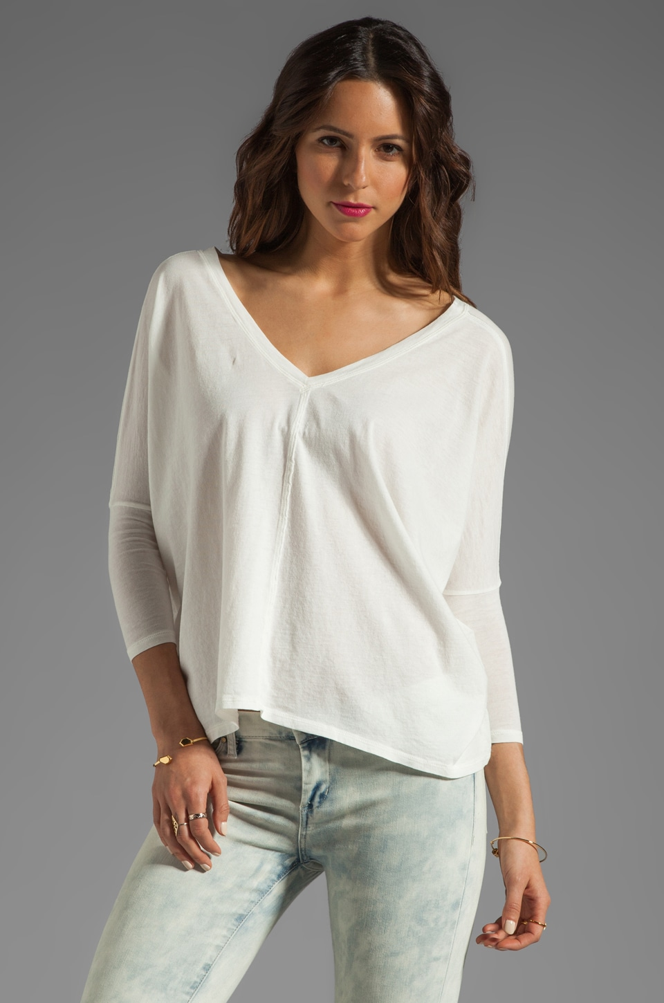 Bobi Lightweight Jersey Dolman Top in Light
