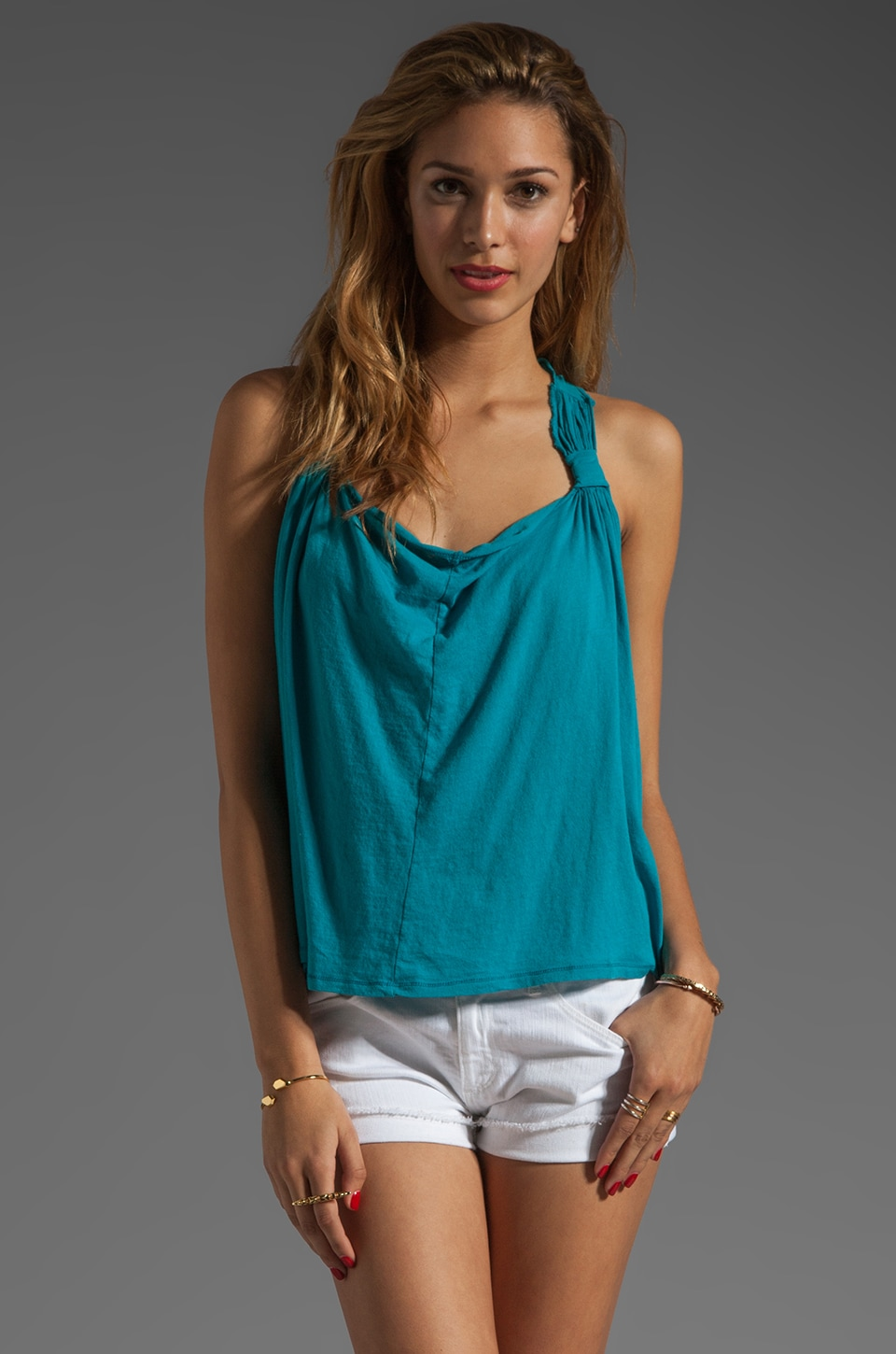 Bobi Lightweight Jersey Swing Tank in Wave