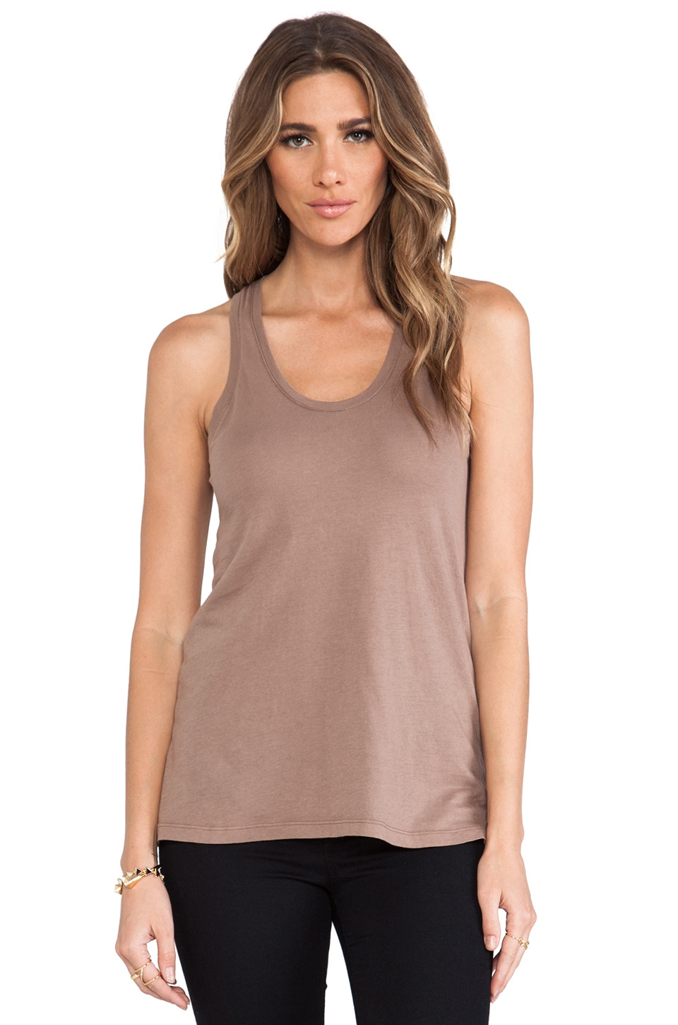 Bobi Light Weight Jersey Tank in Java