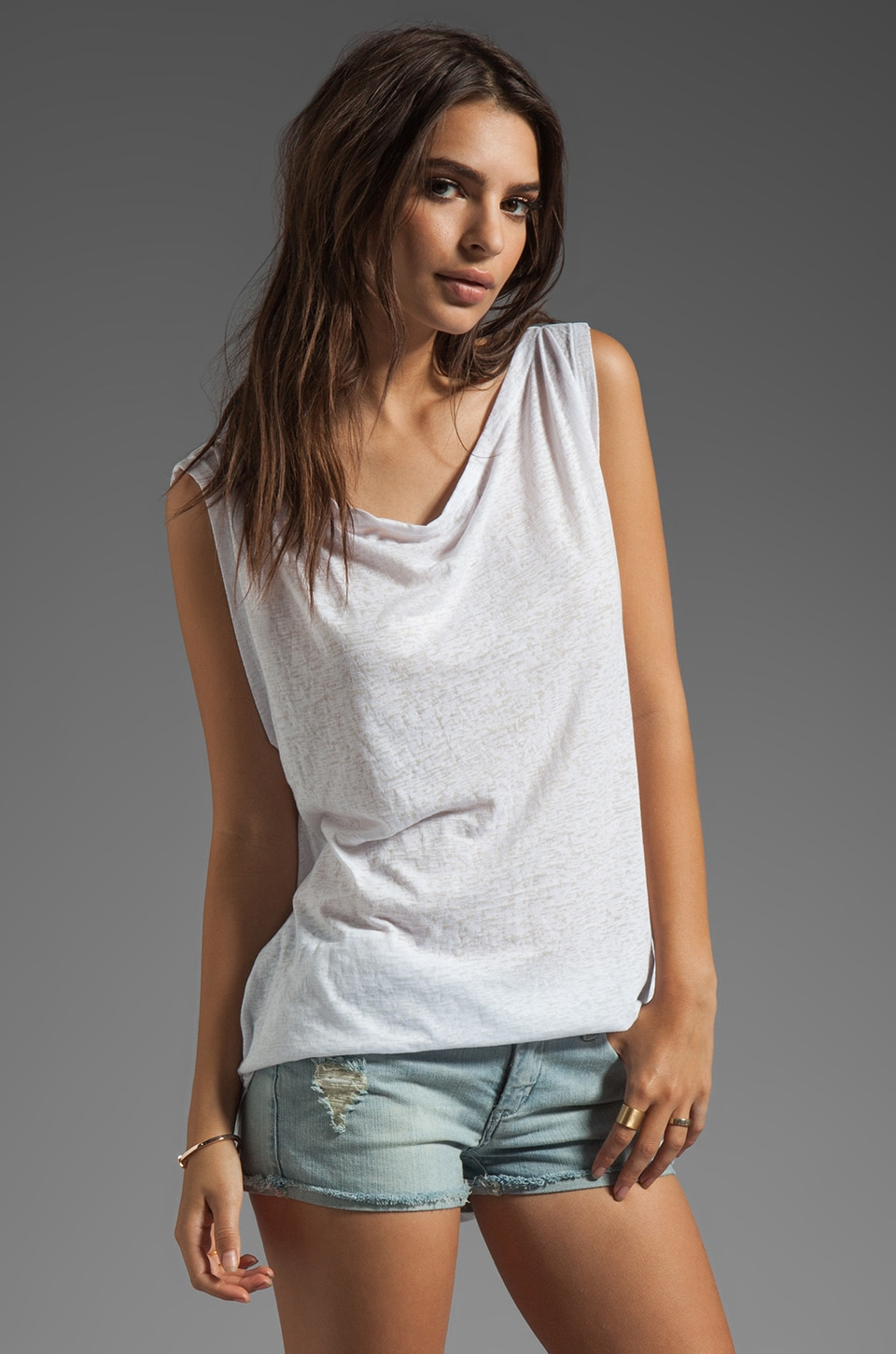 Bobi Burnout Tank in White
