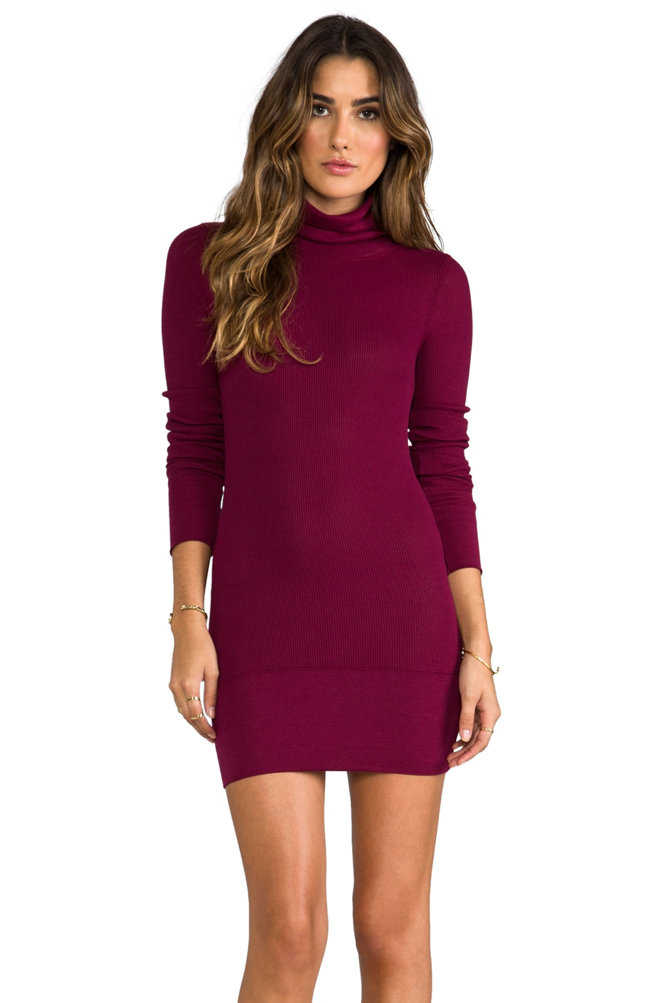 Bobi Thermal Turtleneck in Merlot