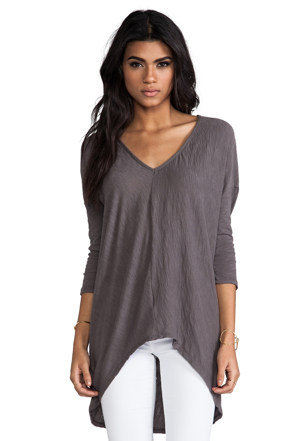 Bobi Long Sleeve Dolman Tee in Boboli