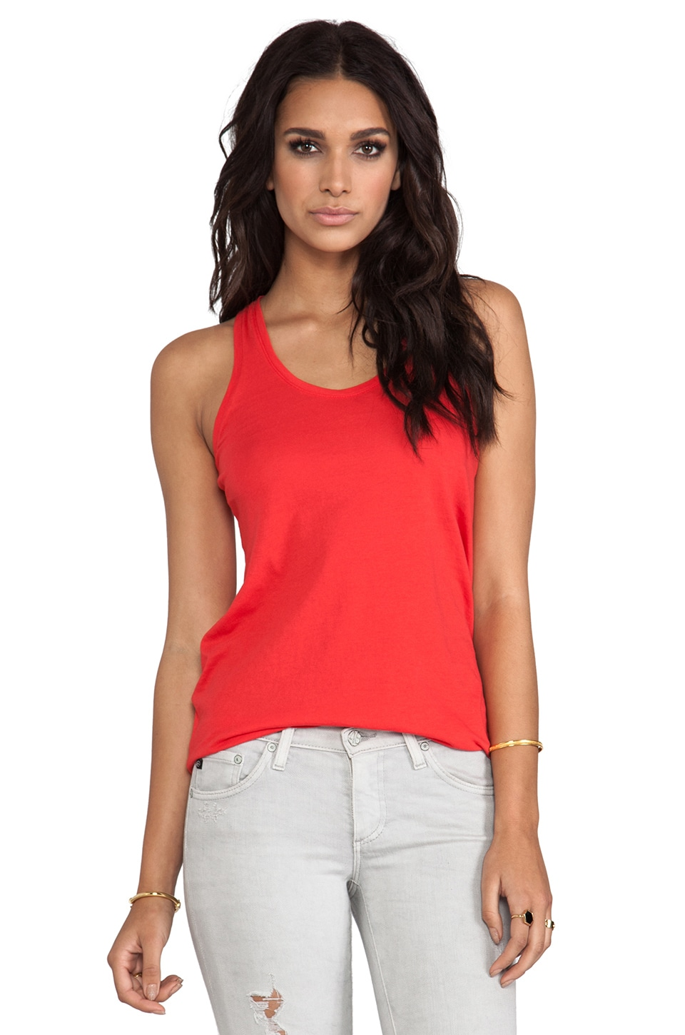 Bobi Light Weight Jersey Tank in Lover