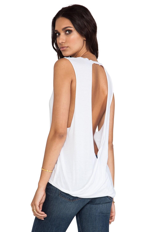 Bobi Light Weight Jersey Open Back Tank in White