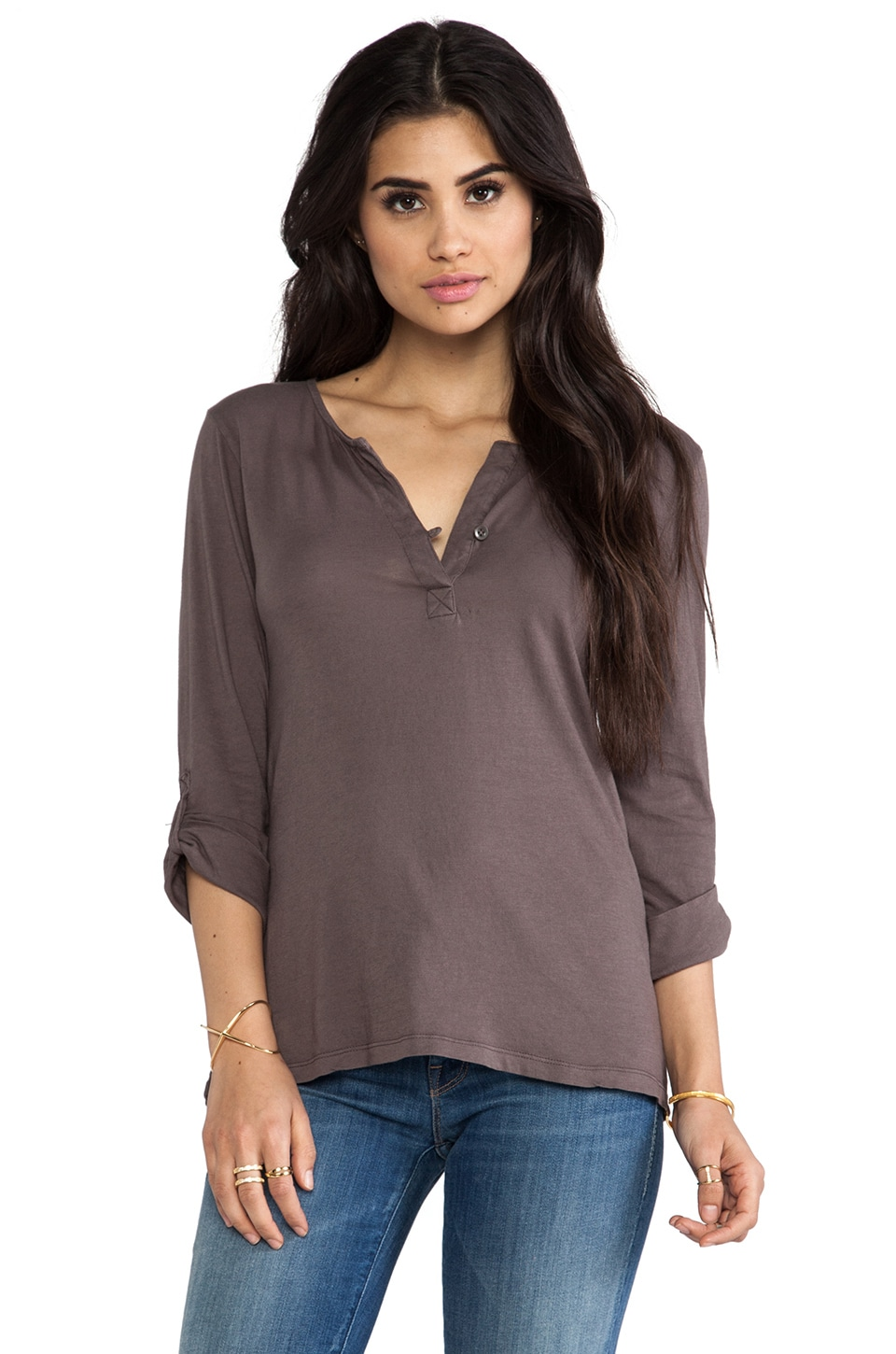 Bobi Light Weight Jersey Tunic in Slate