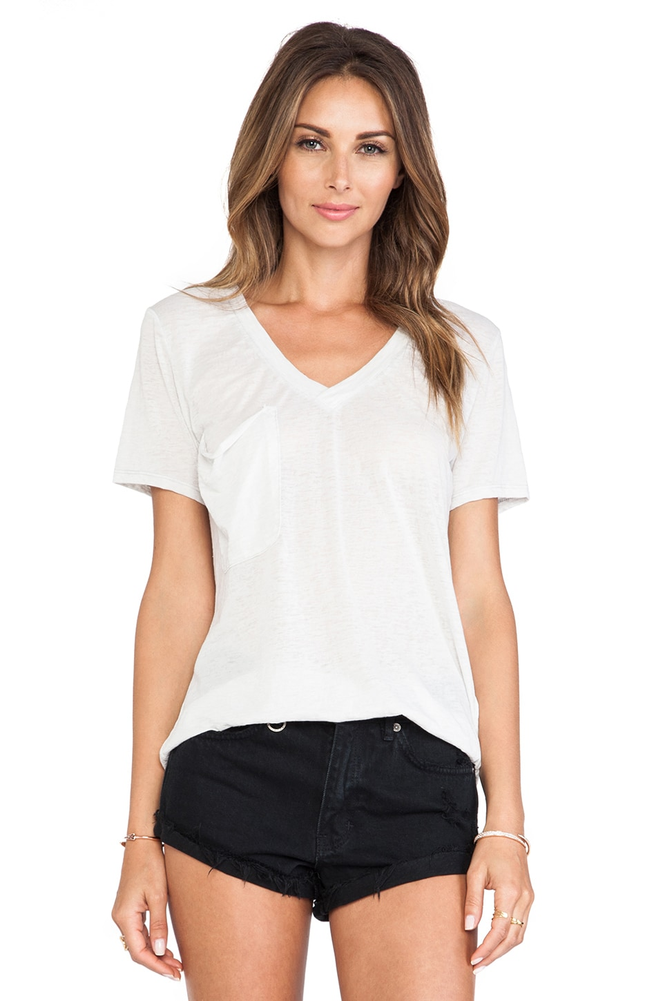 Bobi Burnout Pocket Tee in Shore