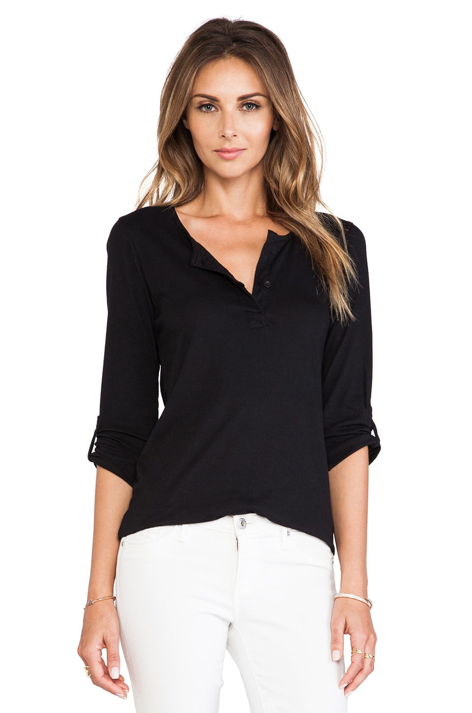 Bobi Light Weight Jersey Long Sleeve in Black