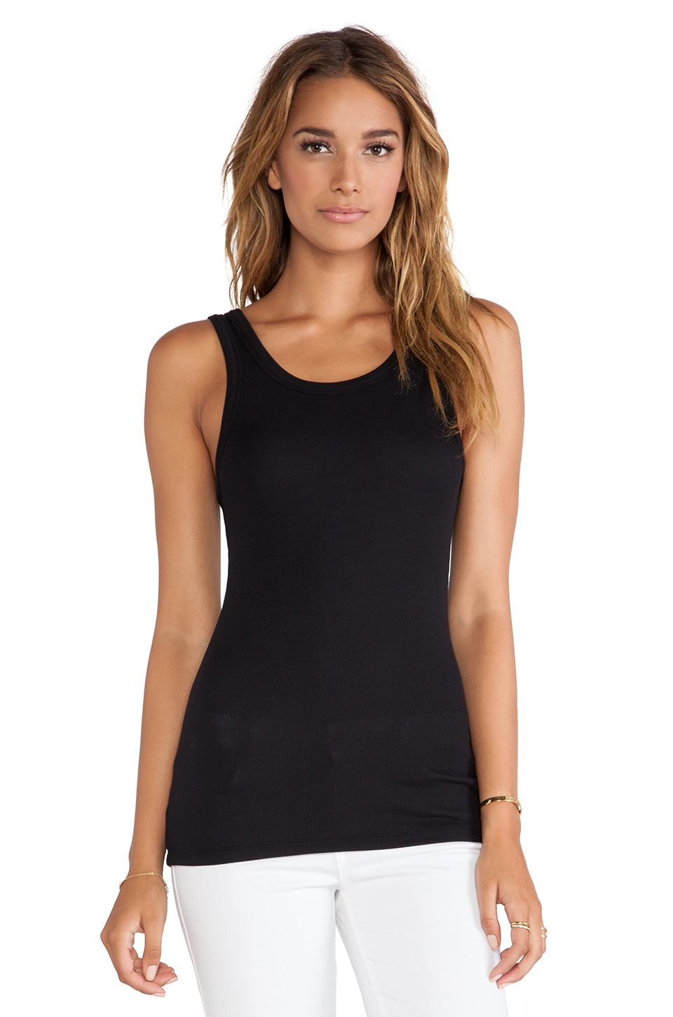 Bobi Modal Rib Tank in Black