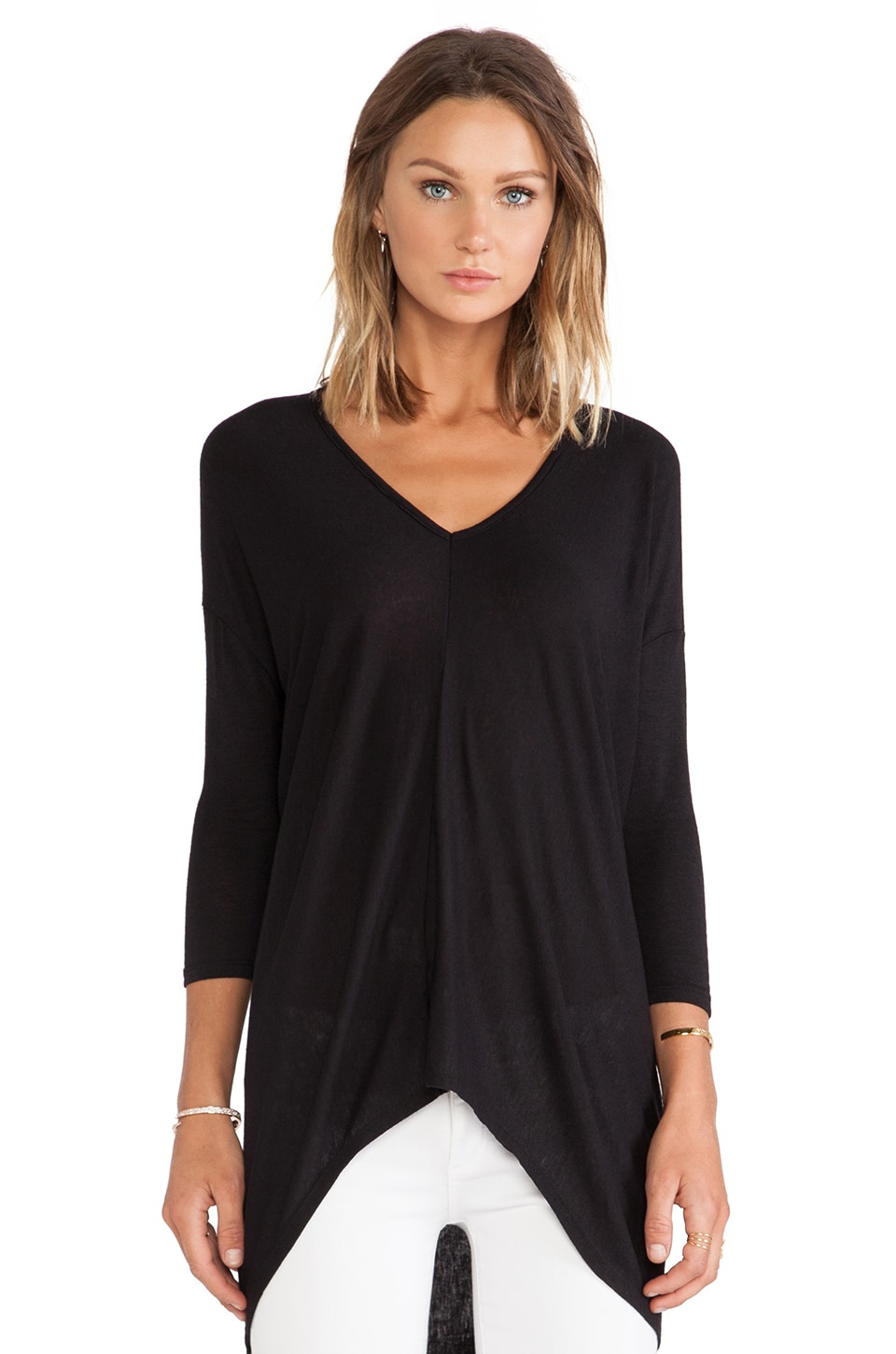 Bobi Long Sleeve Dolman in Black