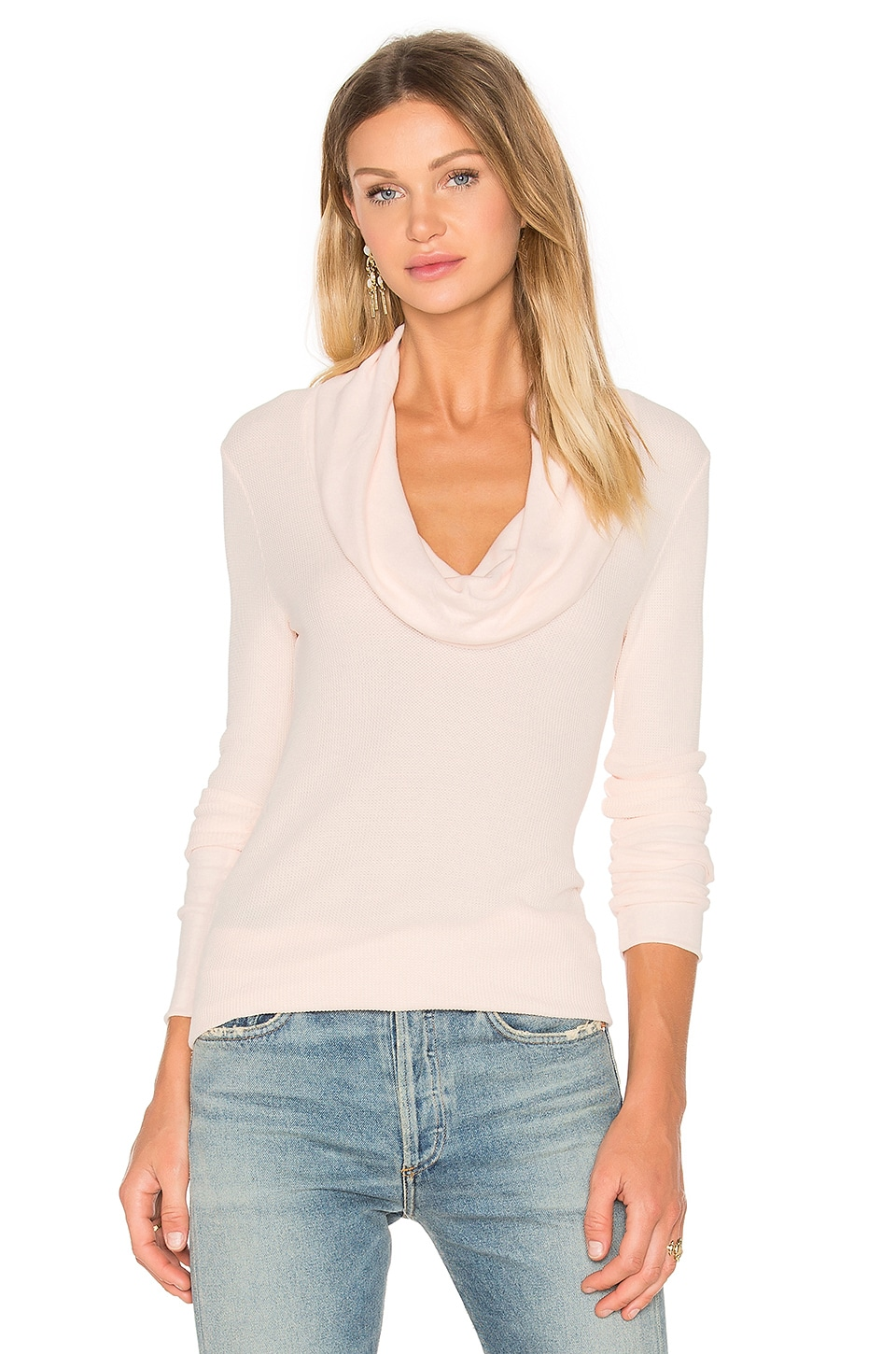 Modal Thermal Long Sleeve Cowl Neck Top by Bobi
