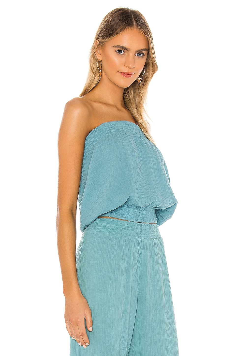 Beach Gauze Strapless Top, view 2, click to view large image.