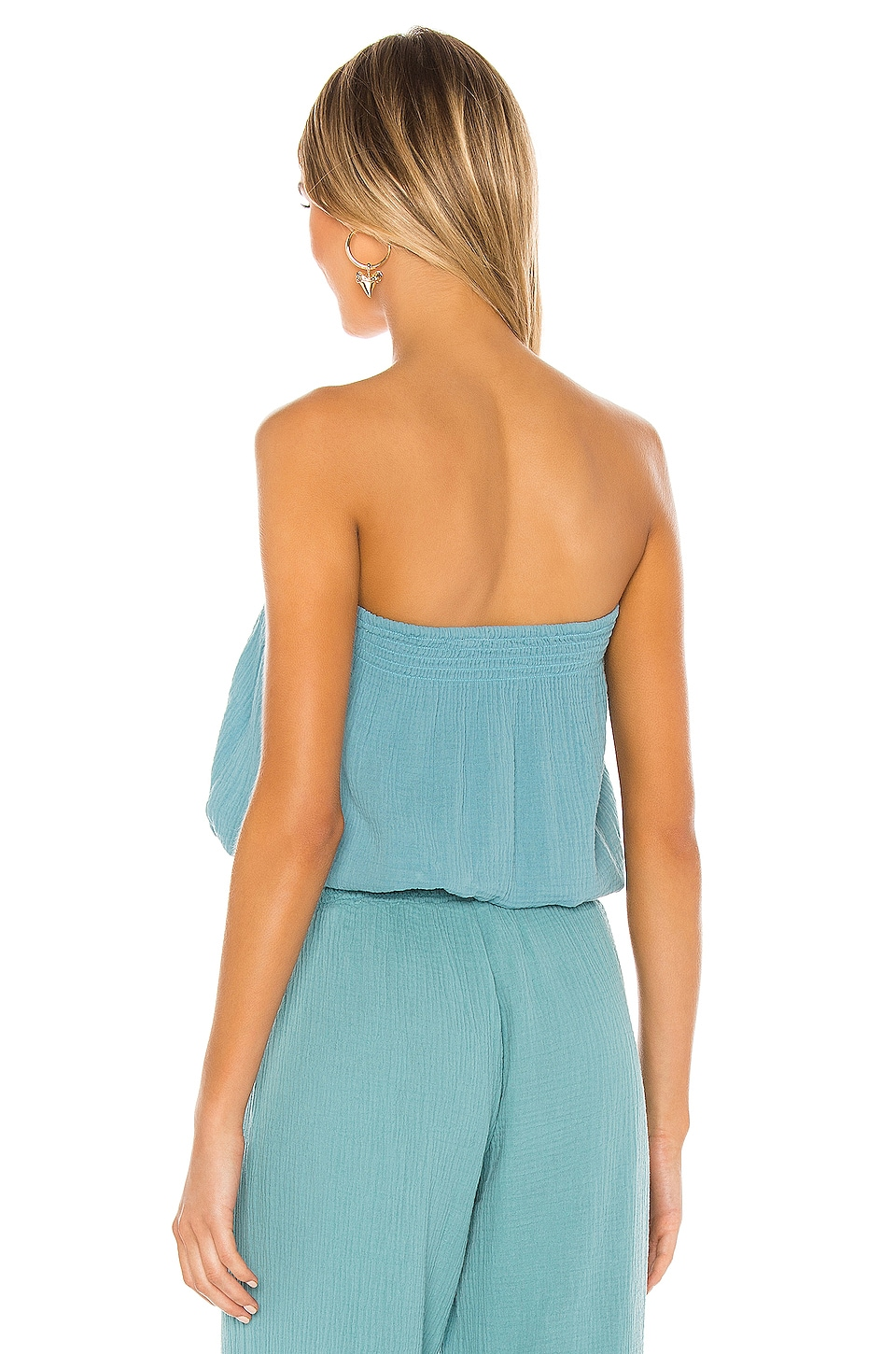 Beach Gauze Strapless Top, view 3, click to view large image.