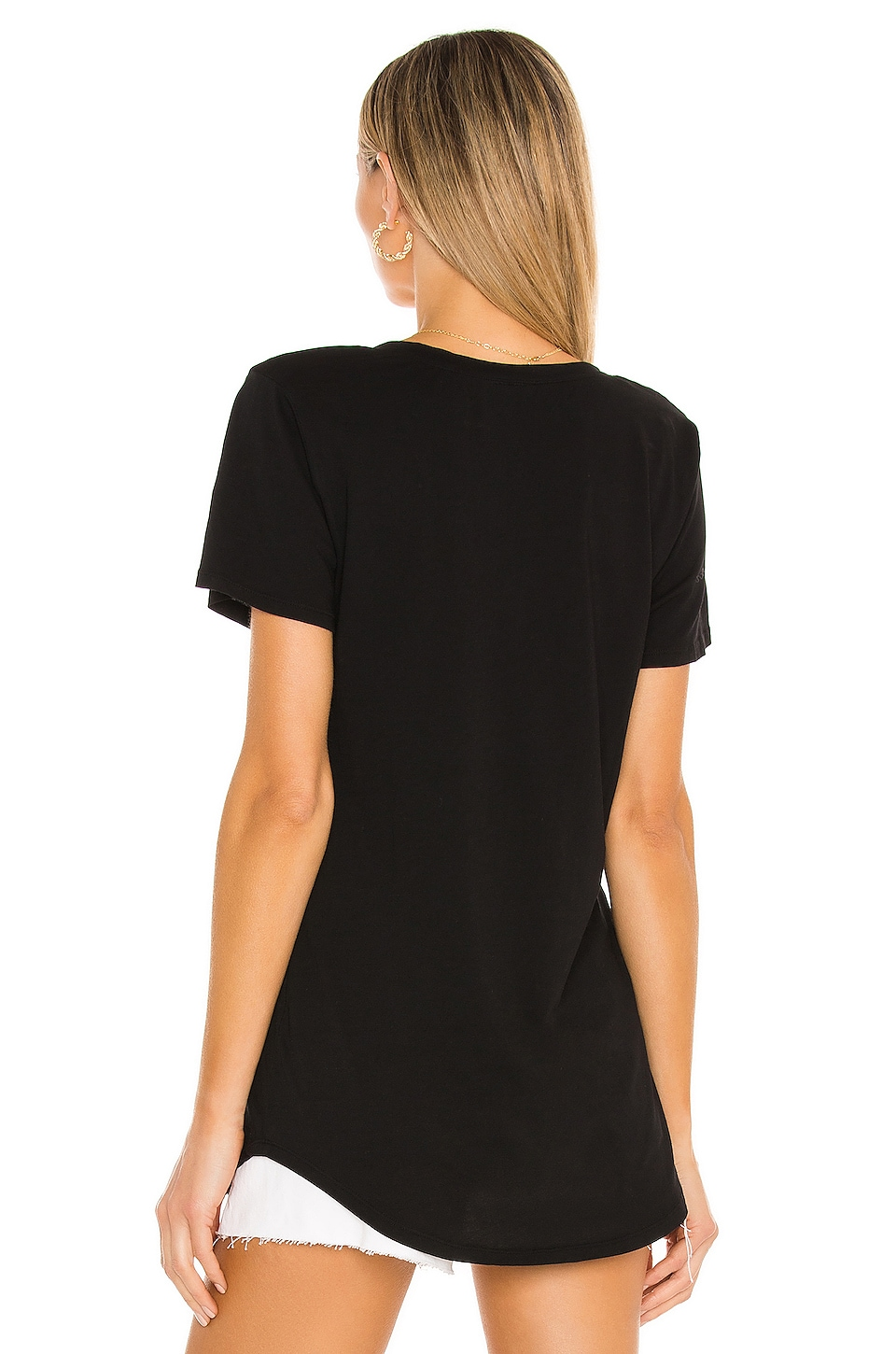 Bobi Lightweight Jersey Pocket Tee in Black