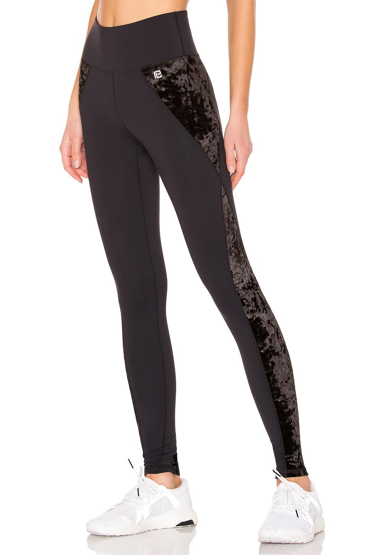 Body Language Meena Legging in Black & Crushed Velvet