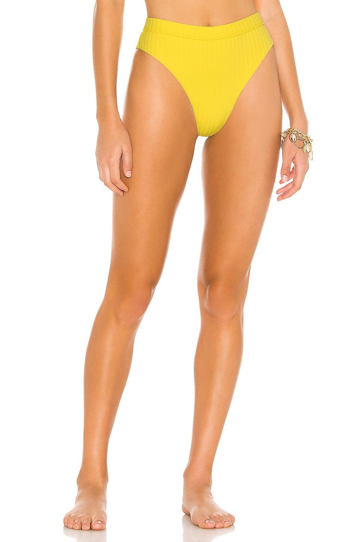 Bond Eye Calvin High Waist Bikini Bottom in Lemon Zest