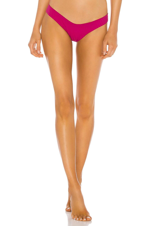 Bond Eye Sun's Out Bikini Bottom in Raspberry Beret
