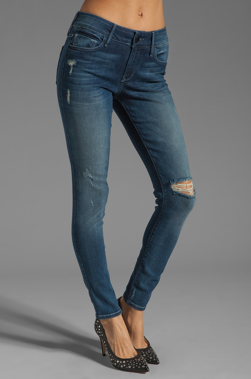 Black Orchid Mid Rise Skinny in Splash