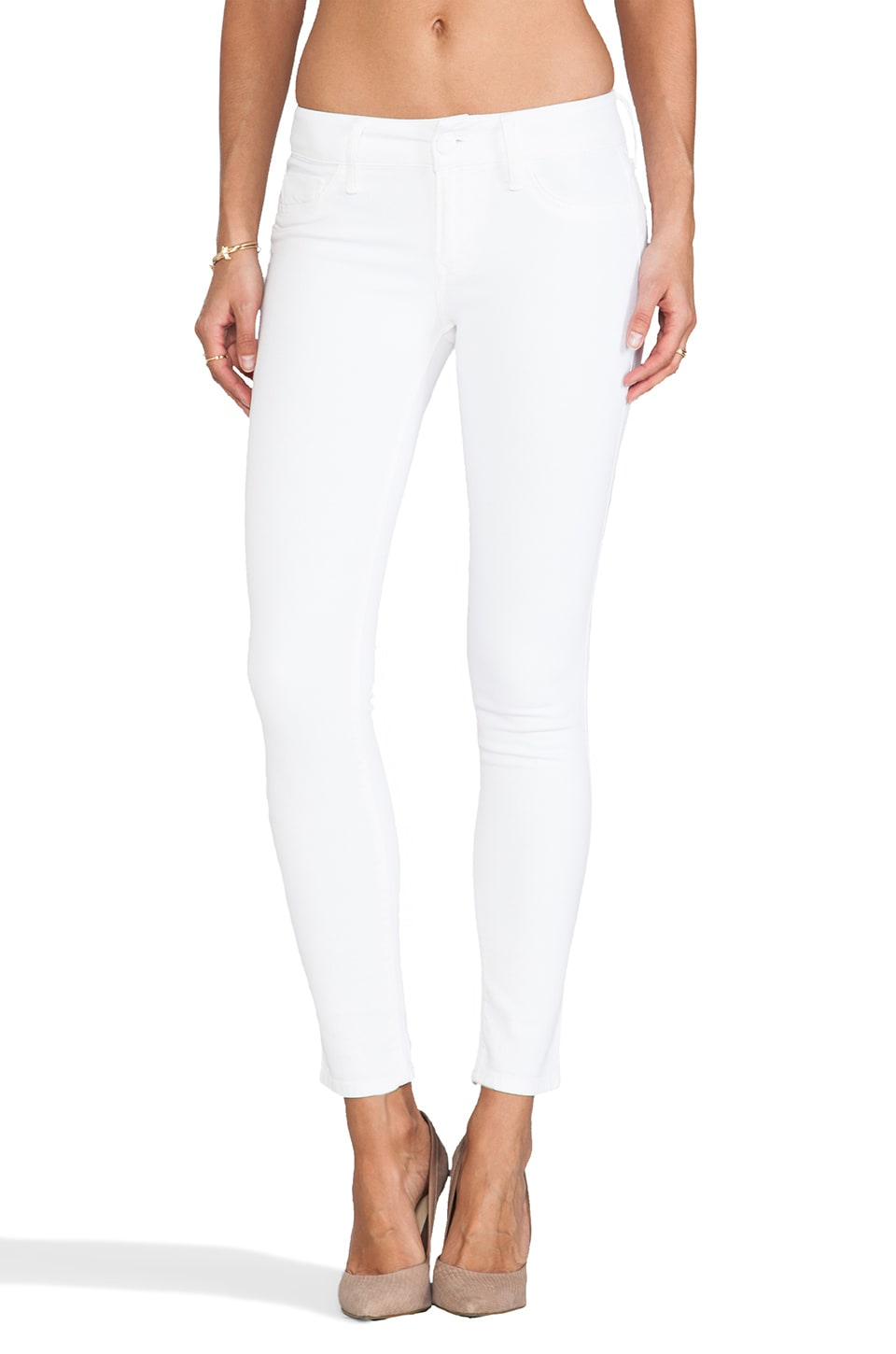 Black Orchid Mid Rise Skinny in Pure White