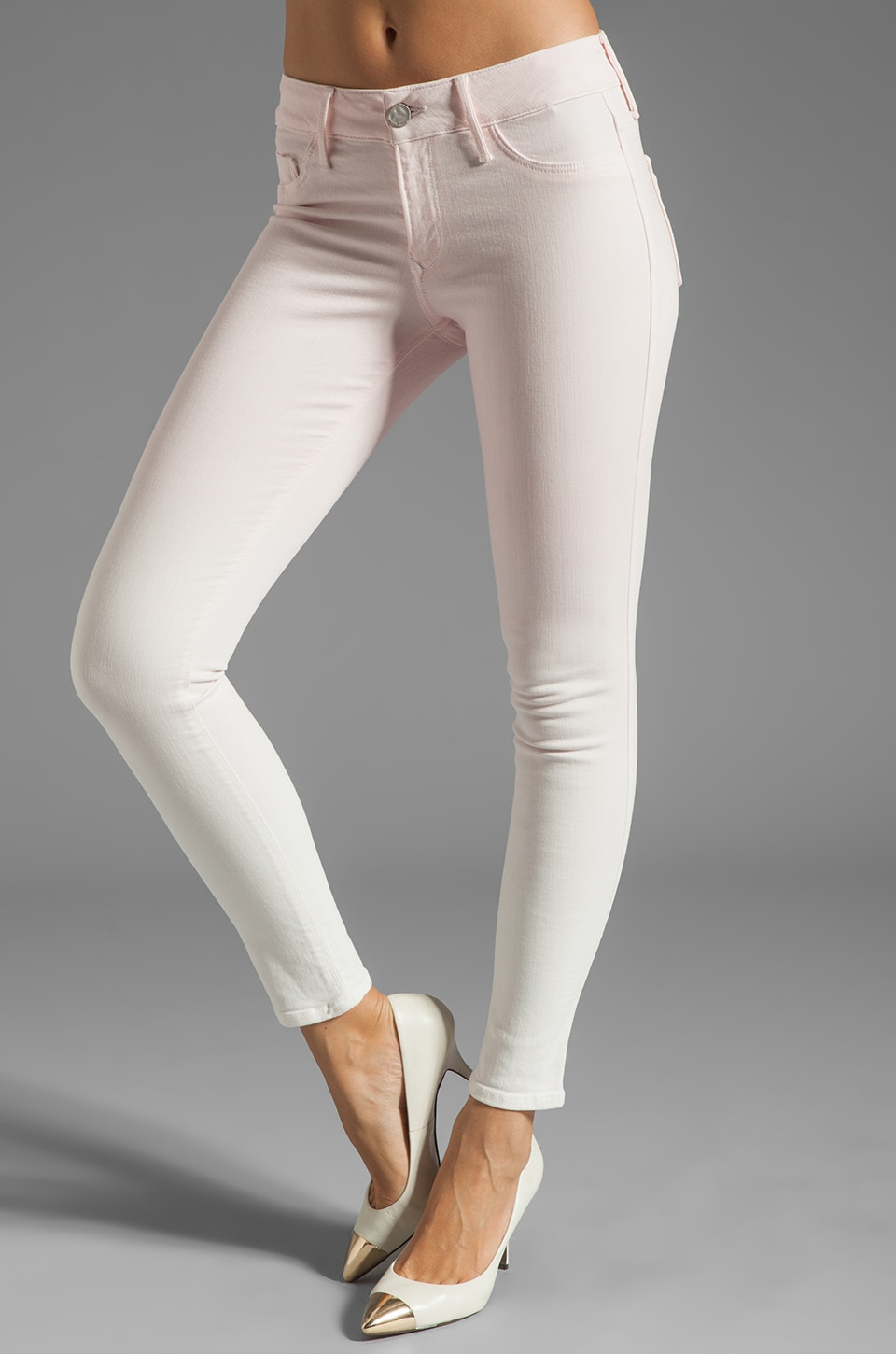 Black Orchid Ombre Mid Rise Skinny in Cotton Candy