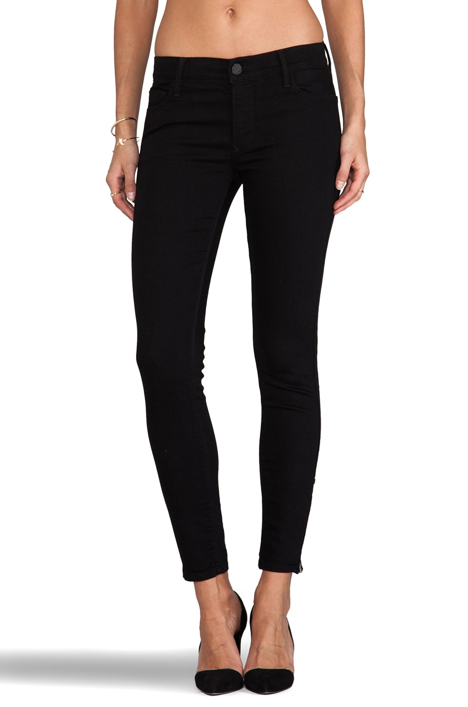 Black Orchid Zipper Skinny in Jet Black