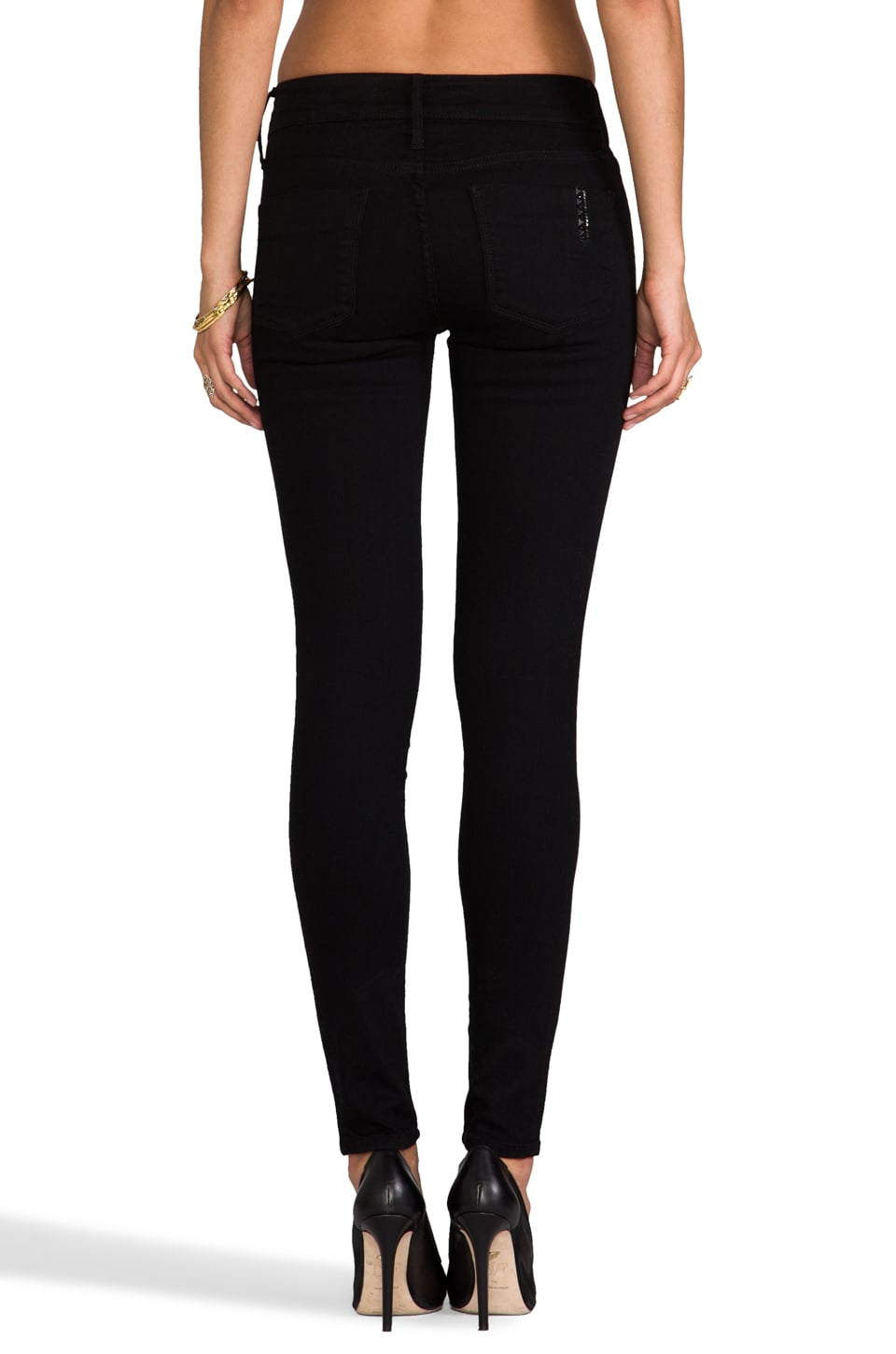 "Black Orchid 9"" Skinny in Jet Black"