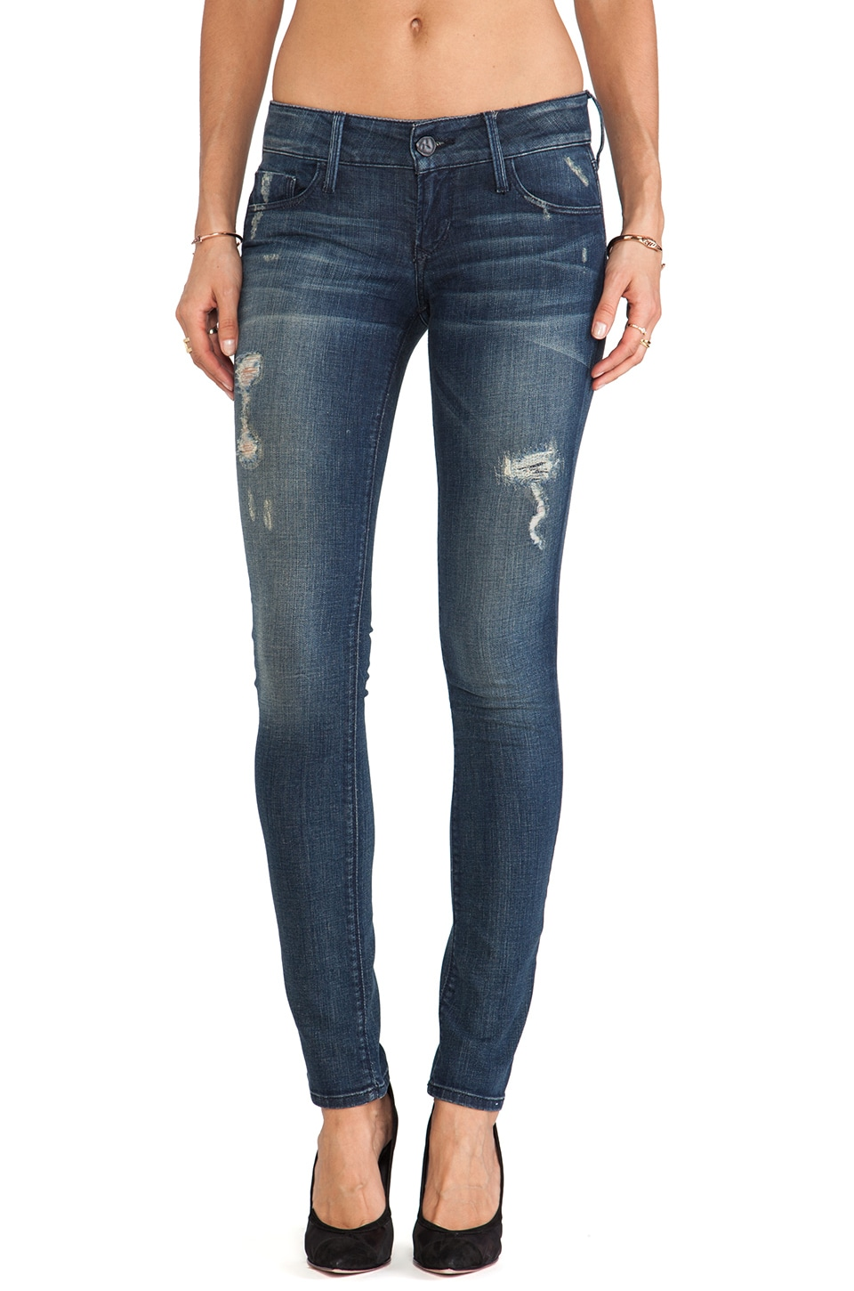 Black Orchid Distressed Skinny in Die Another Day