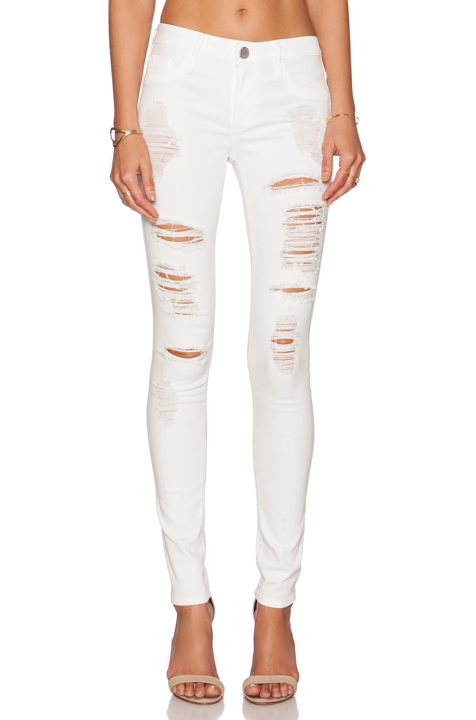 Black Orchid Jude Mid Rise Super Skinny in Snow Storm