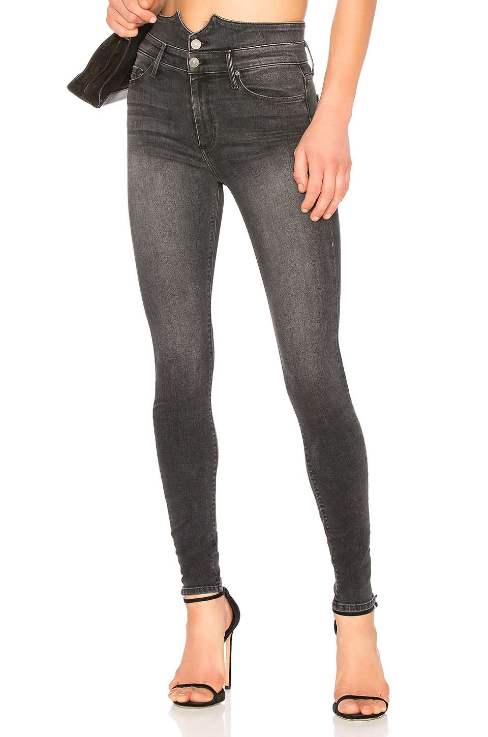 Black Orchid Karlie Button Front Skinny in Easy Rider