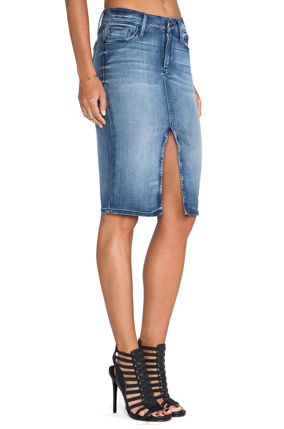 Black Orchid Jean Skirt in Blue My Mind | REVOLVE