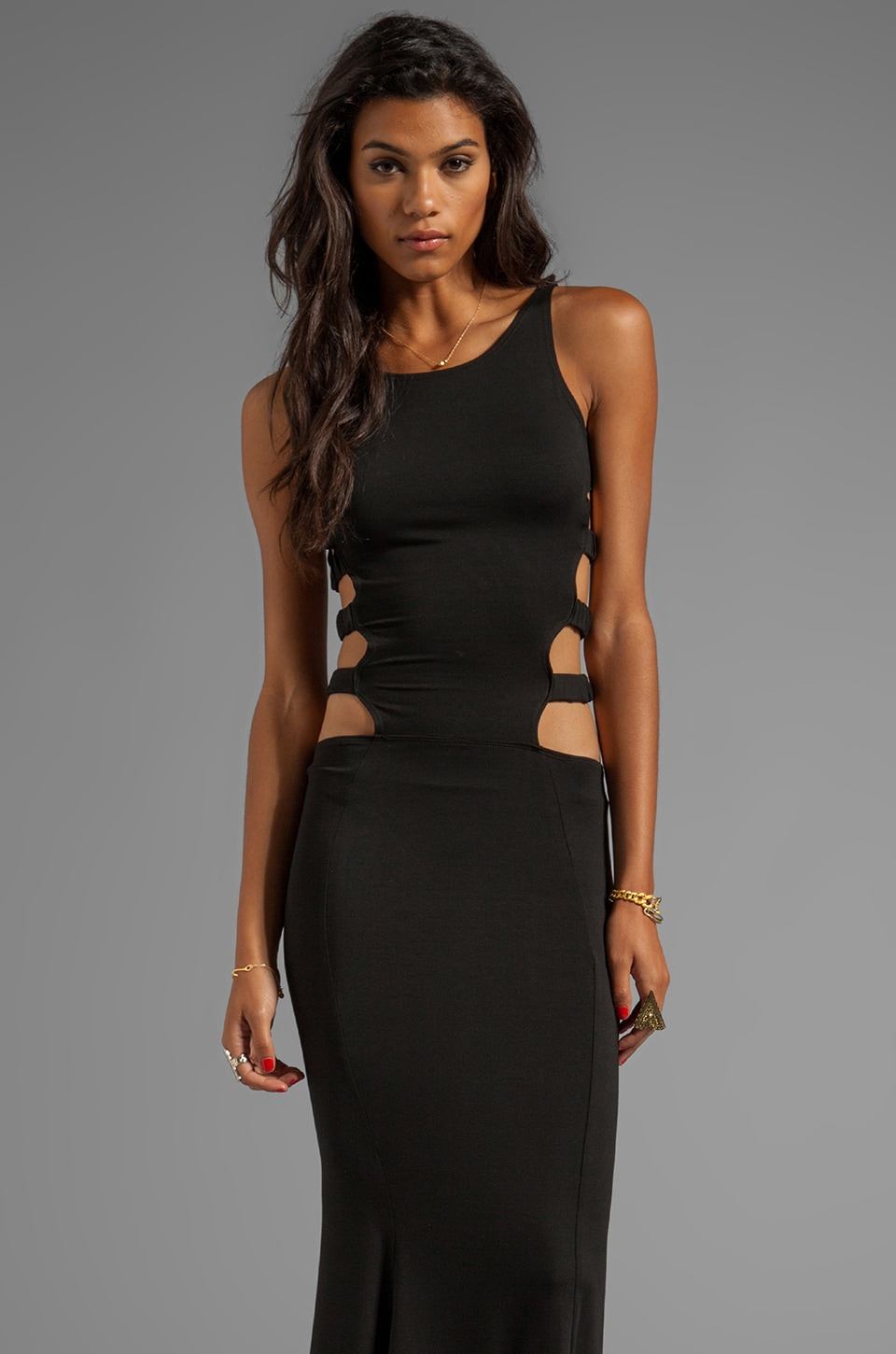 Boulee Florence Cut Out Maxi in Black