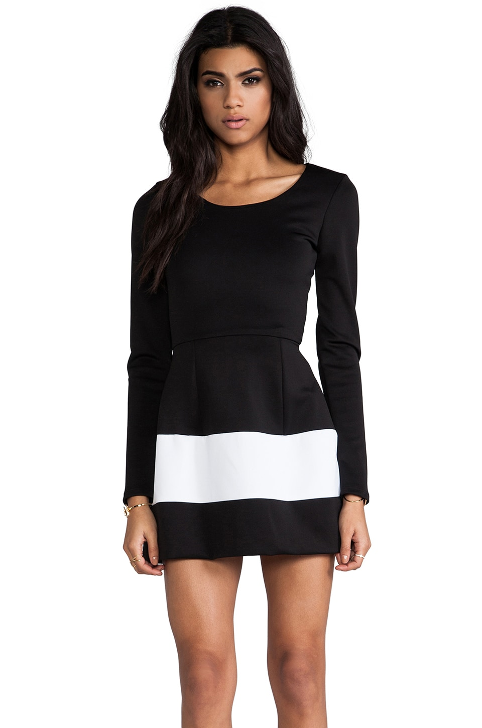 Boulee Marilyn Dress in Black/White