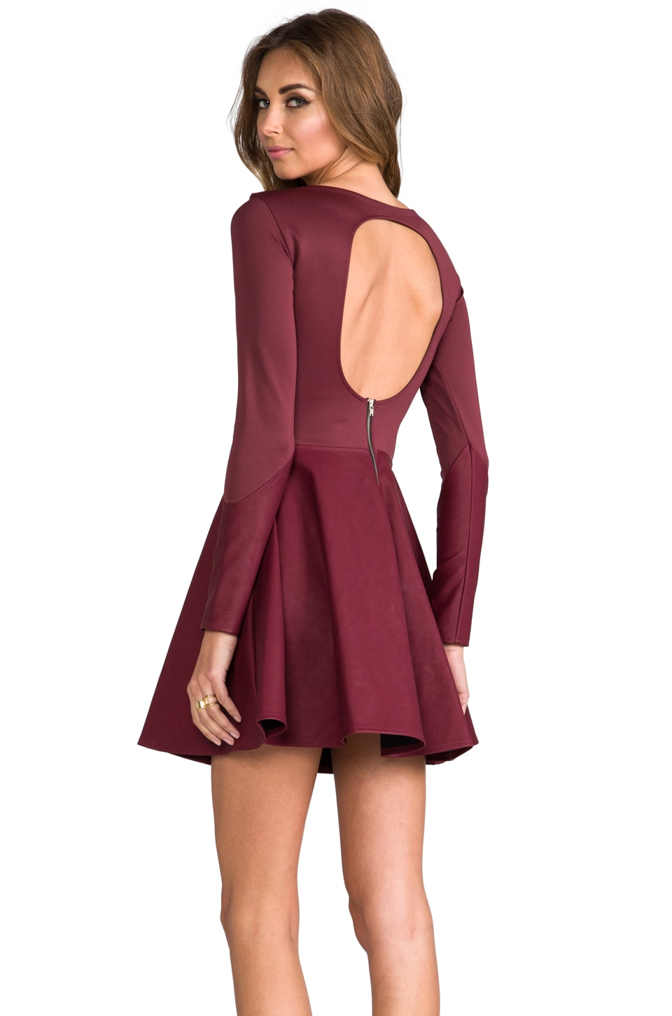 Boulee Avery Dress in Oxblood