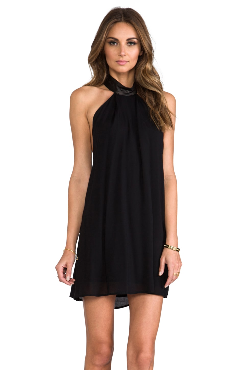 Boulee Cassie Mini Dress in Black