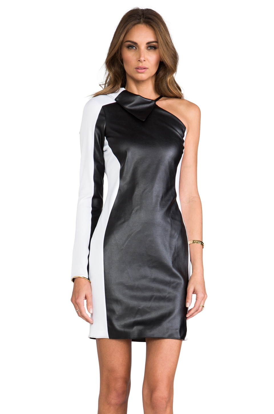 Boulee Mila Dress in Black/White