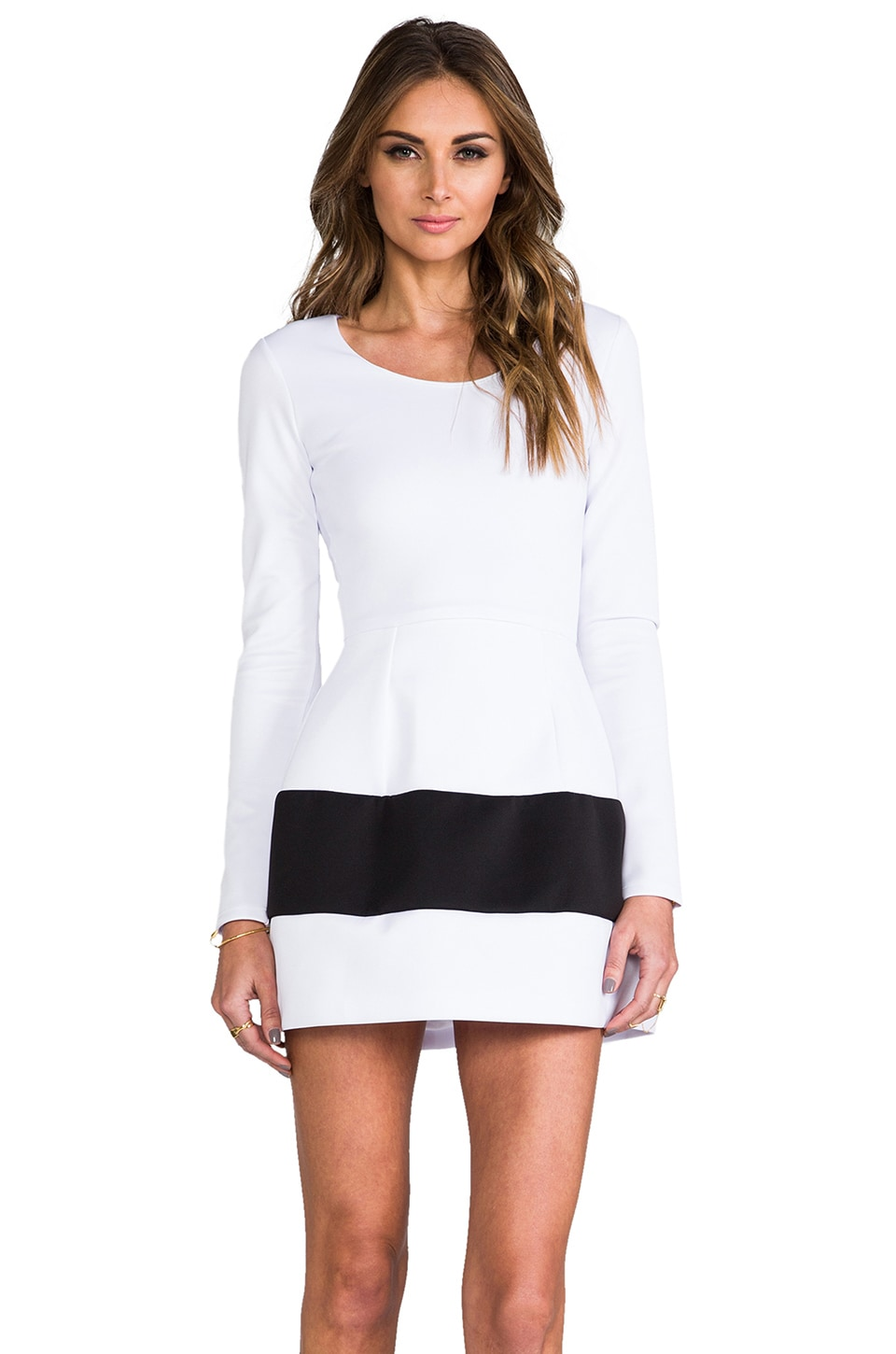 Boulee Marilyn Dress in White & Black