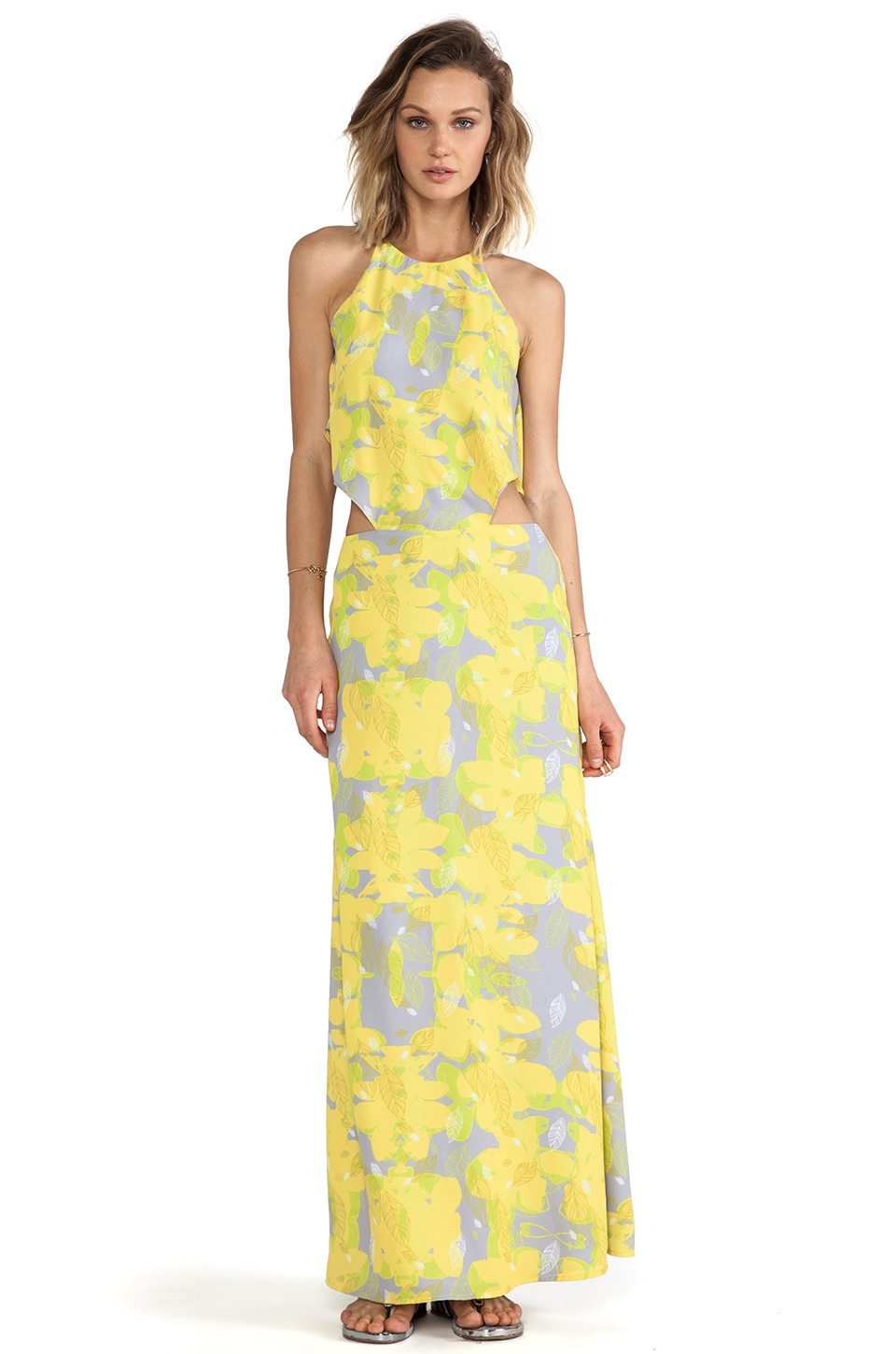 Boulee Cynthia Maxi Dress in Leaf Print