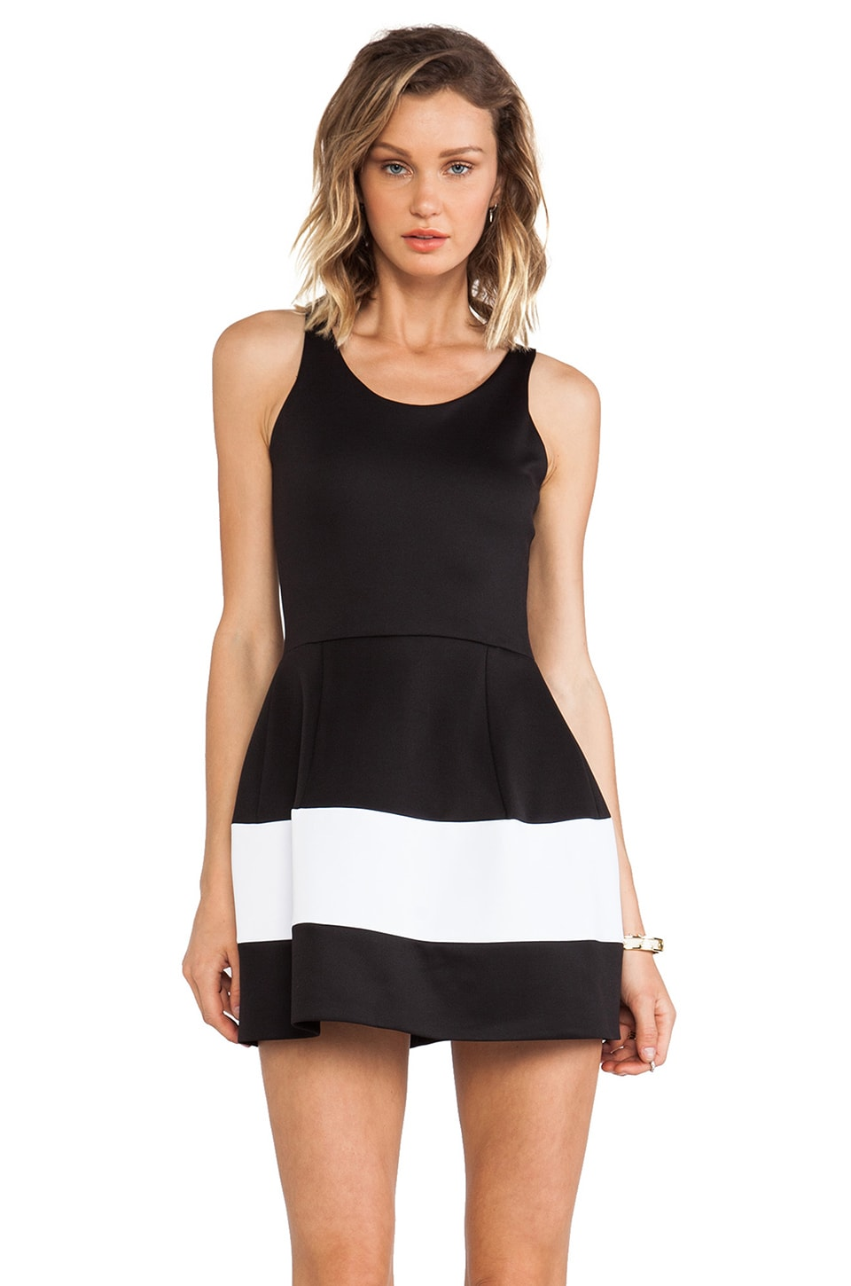 Boulee Marilyn Tank Dress in Black & White