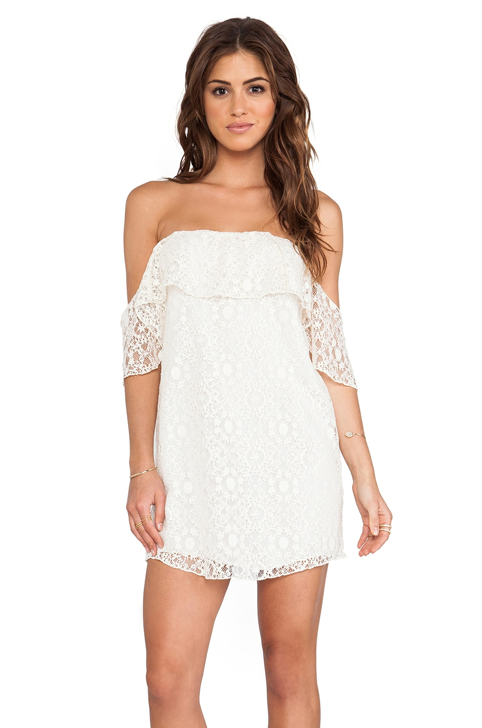 Boulee Emily Dress in Ivory Lace