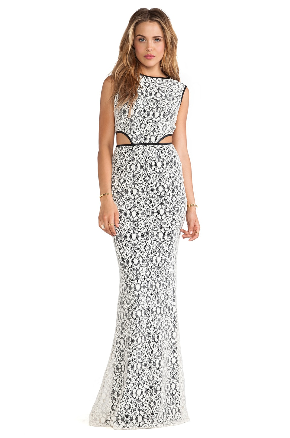 Boulee Max Maxi Dress in Ivory Lace