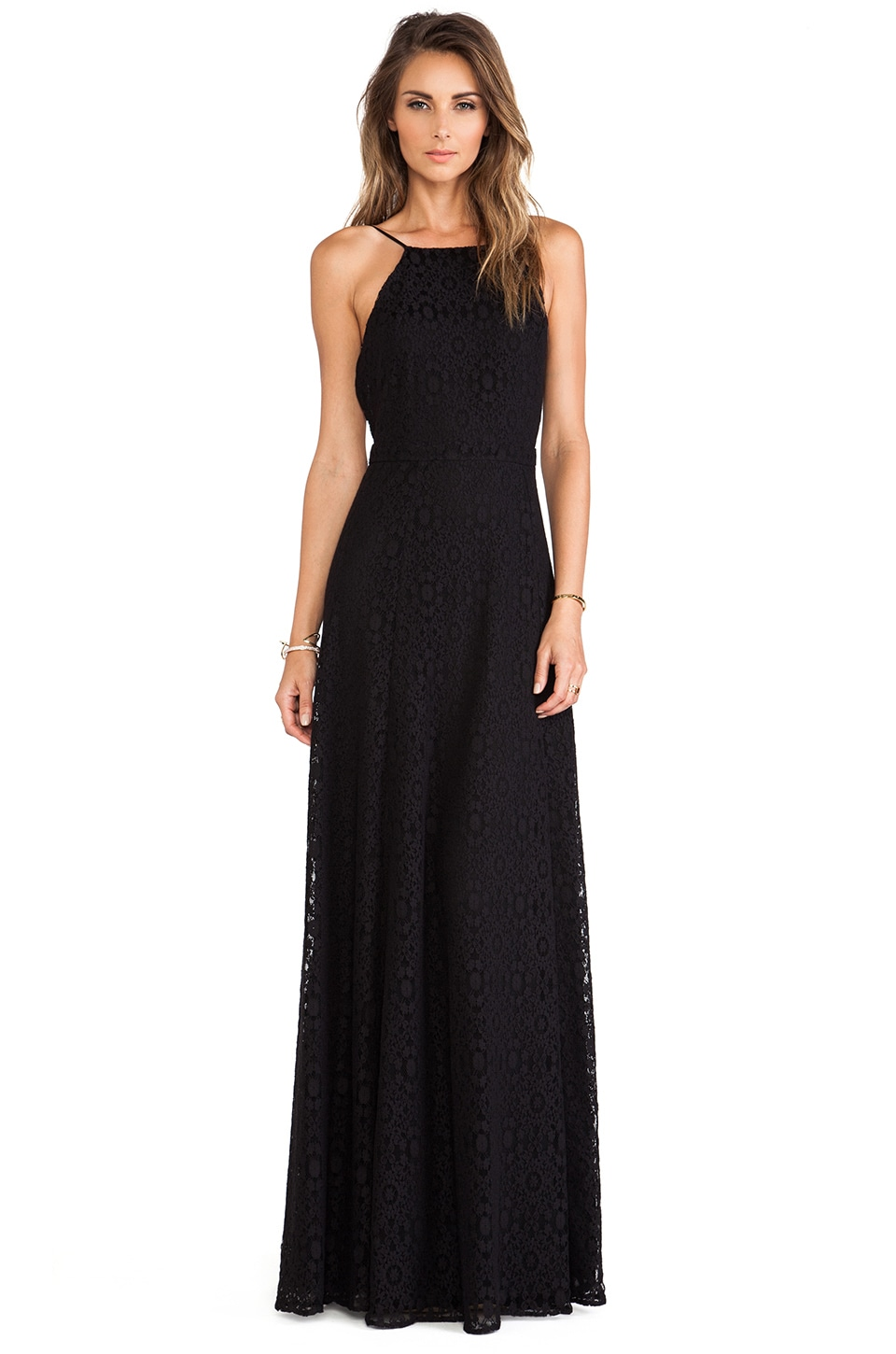 Boulee Gabriella Maxi Dress in Black Lace