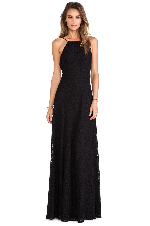 Boulee Gabriella Maxi Dress in Black Lace