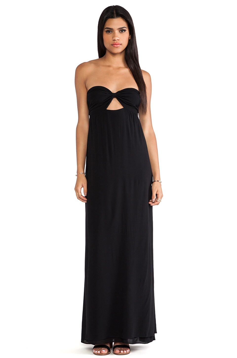 Boulee Zoe Strapless Maxi Dress in Butter Black