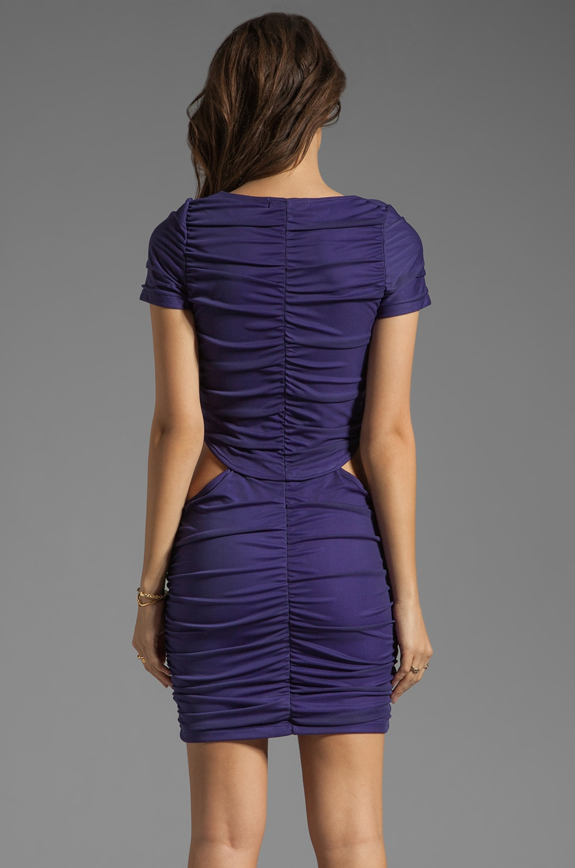 Boulee Blake Short Sleeve Cut Out Dress in Dark Purple