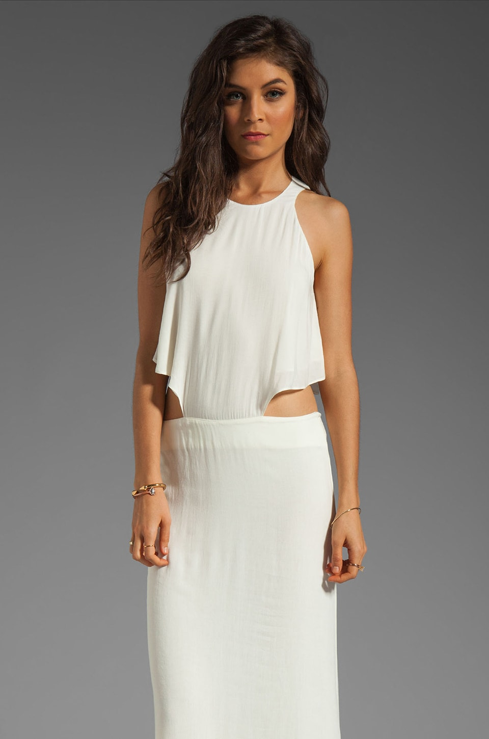 Boulee Cynthia Long Dress in Off White