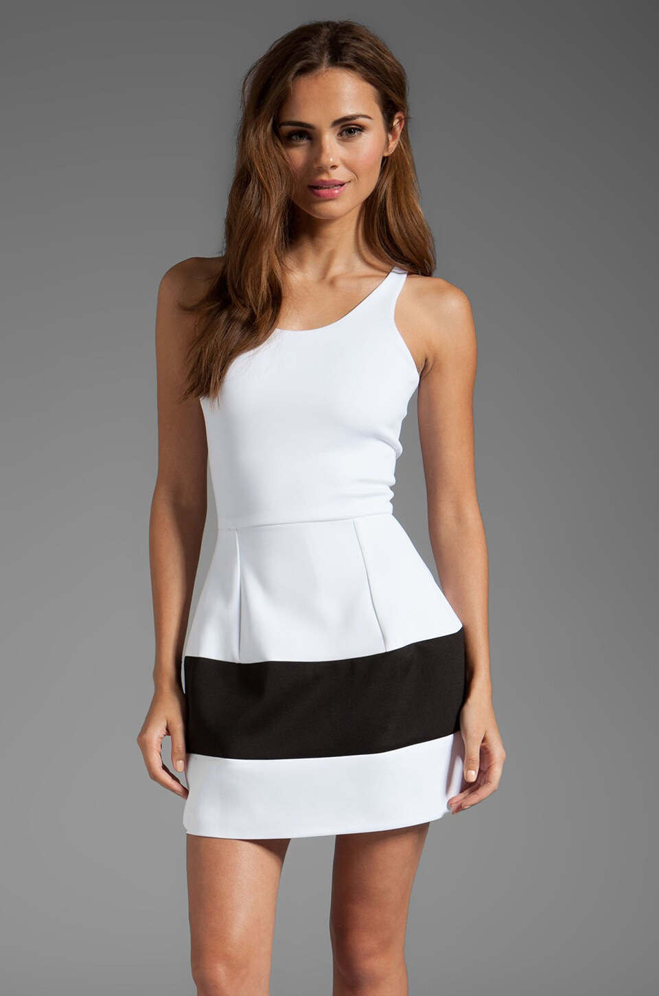 Boulee Marilyn Contrast Dress in White