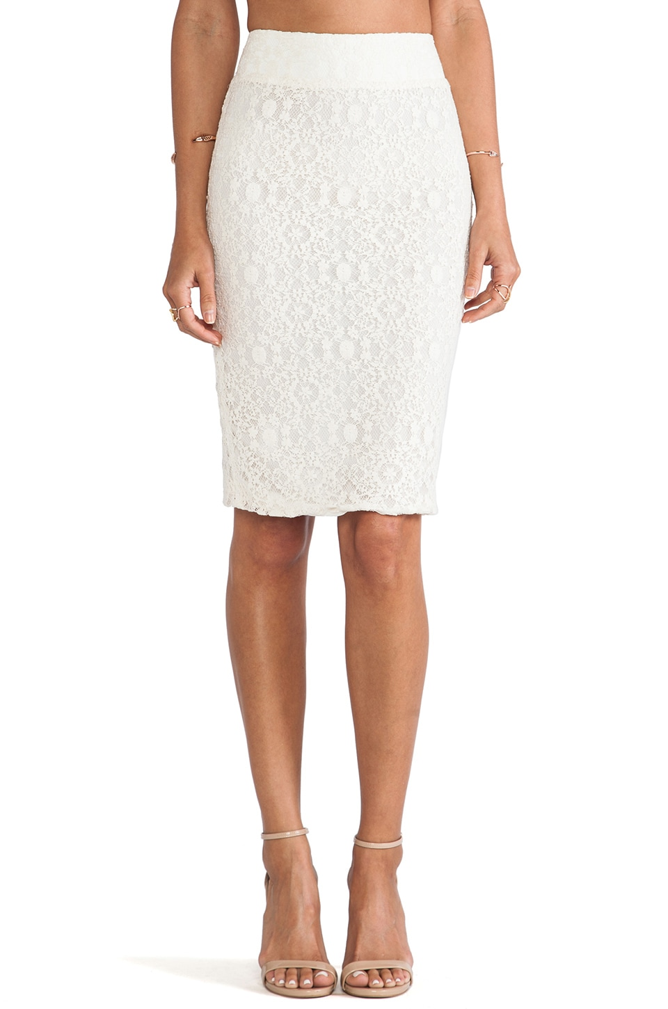 Boulee Monica Skirt in Ivory Lace
