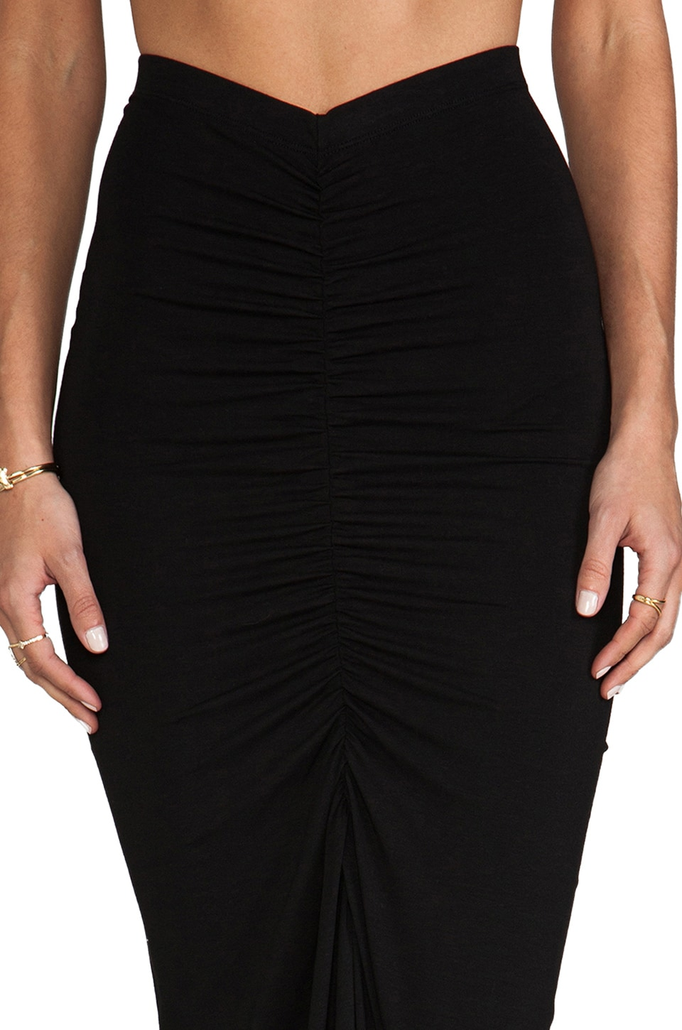 Boulee AJ Maxi Skirt in Black