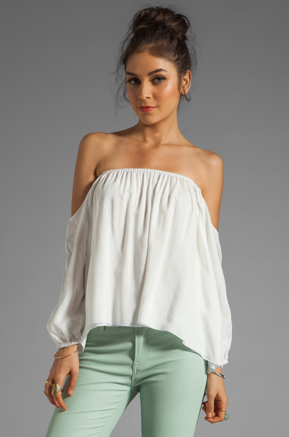 Boulee Audrey Top in Off White